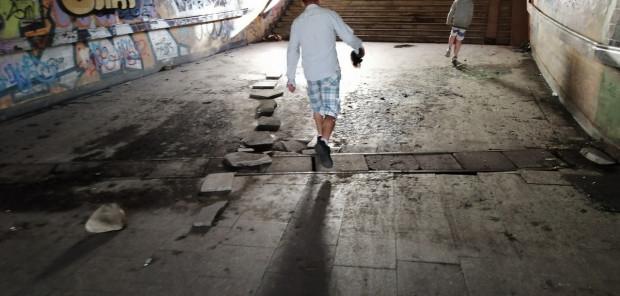 Tak wyglądał tunel w piątek, 3 lipca.