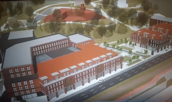 Koncepcja zabudowy terenów wokół dworca PKS w Gdańsku zaprezentowana przez inwestora na Komisji Zagospodarowania Przestrzennego.