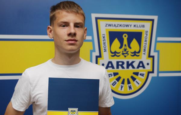 Patryk Soboczyński w listopadzie skończy 17 lat, a już teraz otrzymał profesjonalny kontrakt i został włączony do drużyny seniorów Arki Gdynia.