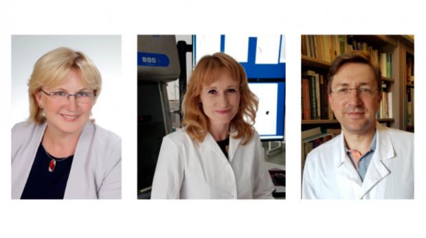 Zespół naukowców z GUMed: prof. Małgorzata Myśliwiec, prof. Natalia Marek-Trzonkowska, prof. Piotr Trzonkowski.