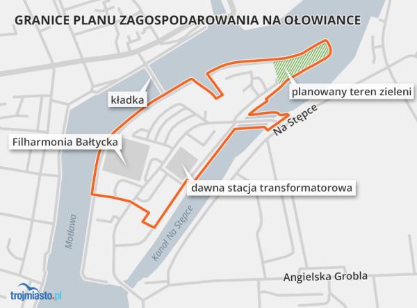 Granice planu, który jest obecnie w toku sporządzania.