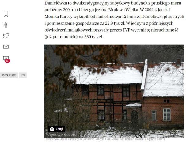 Do molestowania seksualnego miało dojść w leśniczówce, w której swoje mieszkania miały obie rodziny i w której przez lata spędzały wakacje.