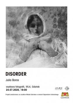 """Wystawa """"Disorder"""" będzie czynna w WL4 w dniach 24.07-3.08. Wernisaż odbędzie się 24.07 o godz. 19. Wstęp wolny."""