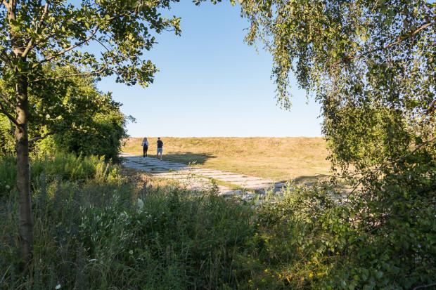 Teren dawnego jeziora jest coraz częściej wykorzystywany jako miejsce spacerów.