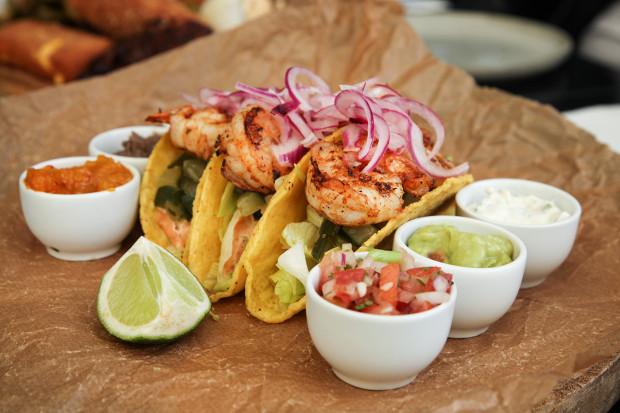 Tacosy z krewetkami