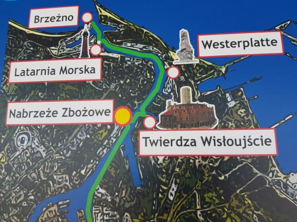 Obecnie między przystankami w Brzeźnie (Falochron Zachodni), Latarnią Morską, Westerplatte i Twierdzą Wisłoujście nie pływa ani jedna jednostka, z której mogliby skorzystać turyści i mieszkańcy Gdańska.