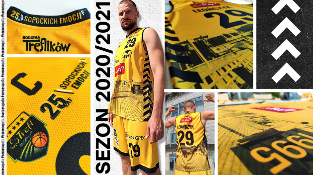 Tak prezentują się domowe stroje Trefla Sopot na sezon 2020/21.