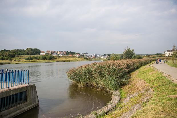 W zbiornikach retencyjnych obowiązuje zakaz kąpieli. Na zdjęciu zbiornik Świętokrzyska II.