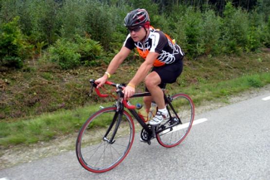 Piotr Bartoszewicz na trasie Karlskrona Bike Maratonu