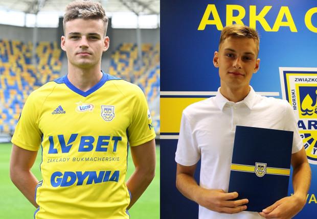 Damian Ślesicki (z lewej) i Kamil Skręta zwiększą pole manewru Arki Gdynia w defensywie.