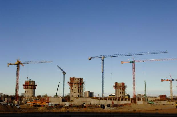 Tak wyglądał plac budowy Ergo Areny na początku listopada 2007 r.