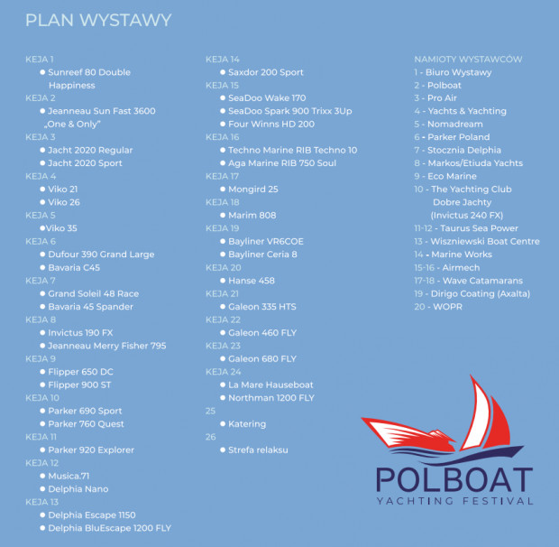 Plan wystawy Polboat Yachting Festival