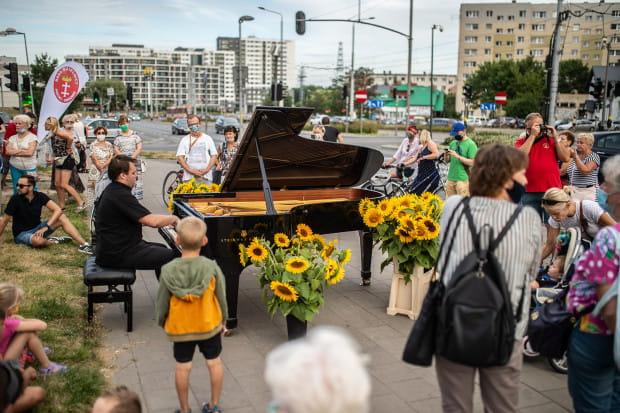 Koncert odbył się koło parkingu na ul. Rakoczego w Gdańsku.
