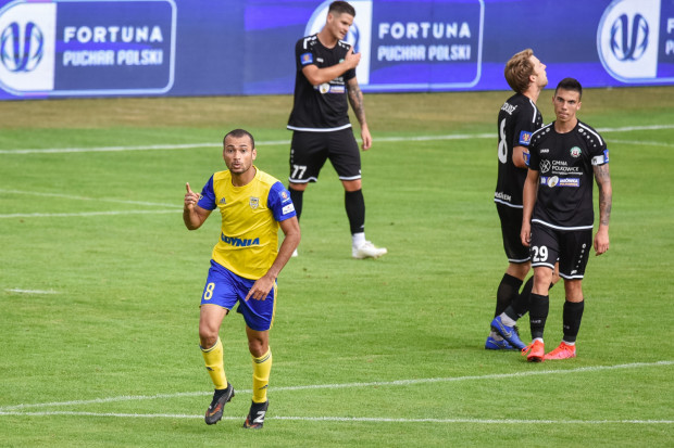 Marcus rozwiązał worek bramowy w Polkowicach w 57. minucie spotkania i awansował na 3. miejsce w klasyfikacji najlepszych strzelców wszech czasów Arki Gdynia.