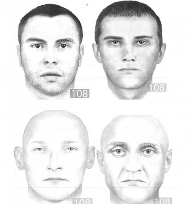 Portrety pamięciowe mężczyzn, którzy mieli dokonać rozboju.