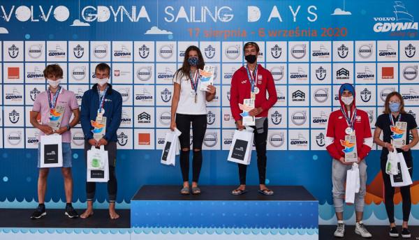 Volvo Gdynia Sailing Days w reżimie sanitarnym. Medaliści mistrzotw Polski w klasie 470.