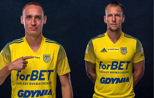 Adam Marciniak (z lewej) jest ponownie kapitanem Arki Gdynia, a jego zastępcą został Adam Danch. Gdy ci piłkarze grali na zapleczu ekstraklasy, zawsze zdobywali awans.