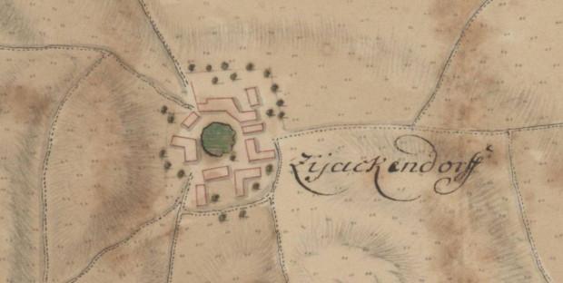 Mapa Suchanina, Plan der Stadt und Situation von Danzig z 1711 rok. Mapa ze zbiorów Wojciecha Gruszczyńskiego.