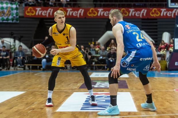 Trefl Sopot rozpoczyna nowy sezon Energa Basket Ligi 29 sierpnia meczem w Ergo Arenie. Na zdjęciu Łukasz Kolenda.