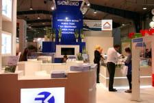 Na stoisku firmy Semeko główny nacisk położono na promocję osiedla Aquasfera.