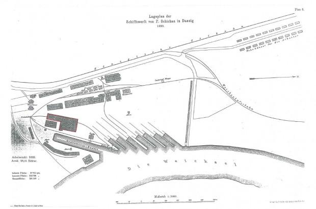 Plan Stoczni Schichaua z 1899 roku