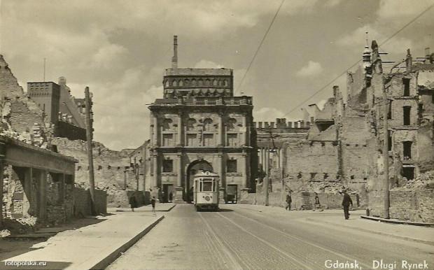 Złota Brama w 1947 roku.
