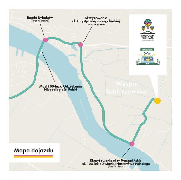 Mapa dojazdu na miejsce wydarzenia