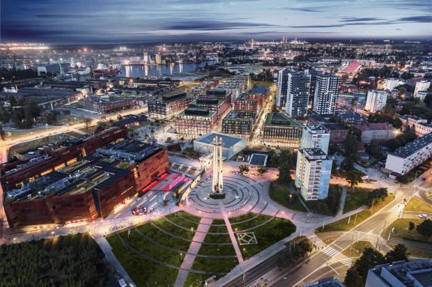 Wizualizacja osiedla DOKI w Gdańsku. Sprzedaż mieszkań z tej prestiżowej inwestycji rozpocznie się pod koniec września.