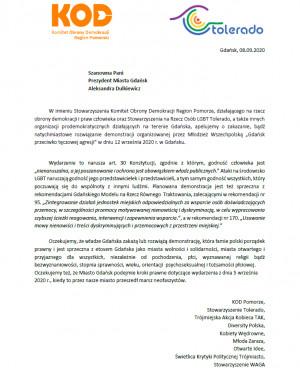 Apel o zakazanie sobotniej demonstracji Młodzieży Wszechpolskiej.