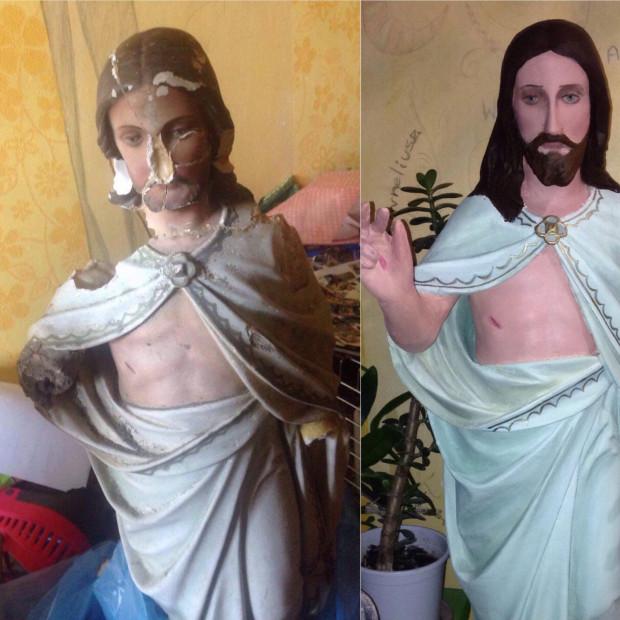 Zamiłowanie do sztuki sakralnej Paulina wyniosła z domu. Bardzo sentymentalnie wspomina swoją pierwszą figurę Matki Boskiej.