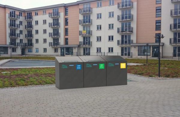 Inteligenty system odbioru śmieci w Ciechanowie. Pojemniki mieszkańcy otwierają naklejkami z indywidualnym kodem.