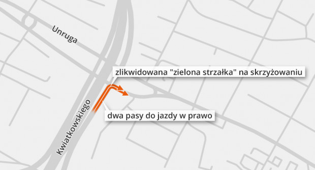 Zmiany w ruchu na estakadzie Kwiatkowskiego.