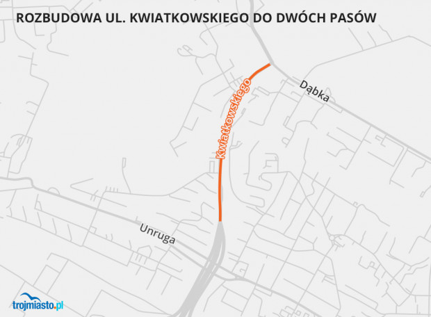 Ten odcinek Trasy Kwiatkowskiego zostanie poszerzony.
