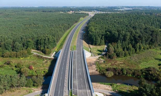 Autostrada A1 w województwie kujawsko-pomorskim. Most na Drwęcą.