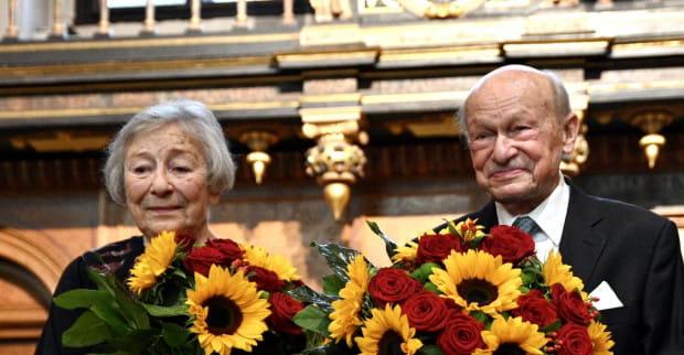 Halina Winiarska-Kiszkis i Jerzy Kiszkis na uroczystej sesji 14 września odebrali tytuły Honorowego Obywatela Miasta Gdańska.