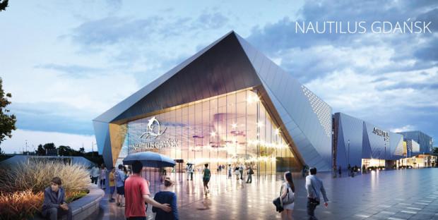 Tak ma wyglądać kompleks rozrywkowy Nautilus, który miałby powstać przy stadionie w Gdańsku.