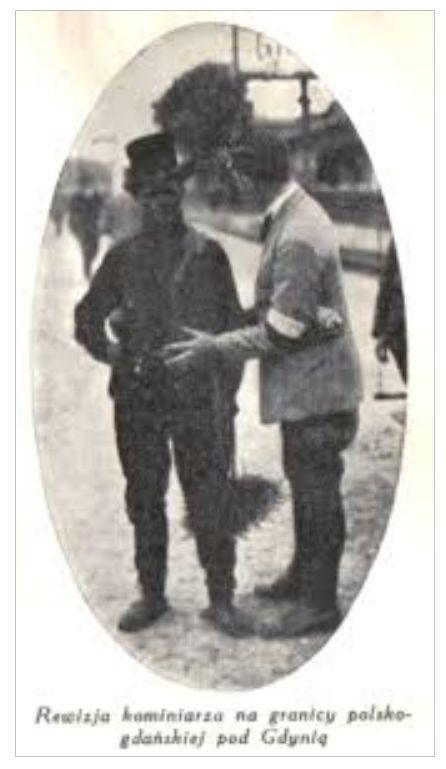 Fotografia z gazety z 1924 r. przedstawiająca przejście graniczne Kolibki-Orłowo.