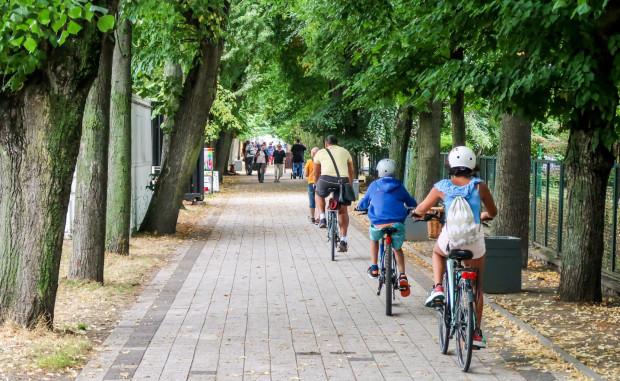 Wyznaczanie dróg rowerowych na chodnikach to w Gdyni norma. Podobnie jest m.in. na mocno uczęszczanej przez pieszych al. Topolowej.