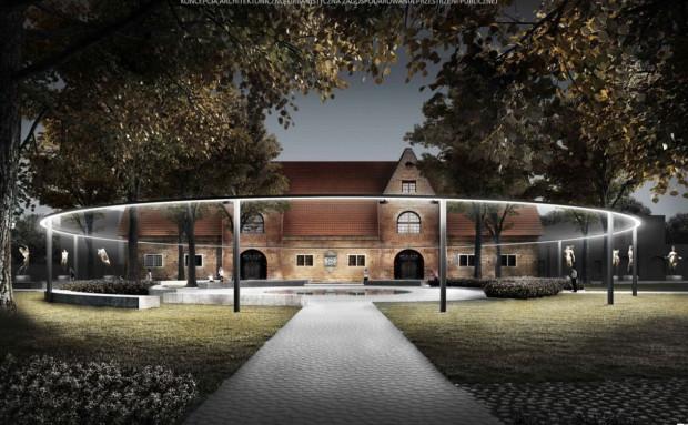 Wizualizacja placu Wałowego przygotowana przez pracownię Gzowski Architekci i Restudio Jacaszek Architekci, na podstawie której powstanie projekt.