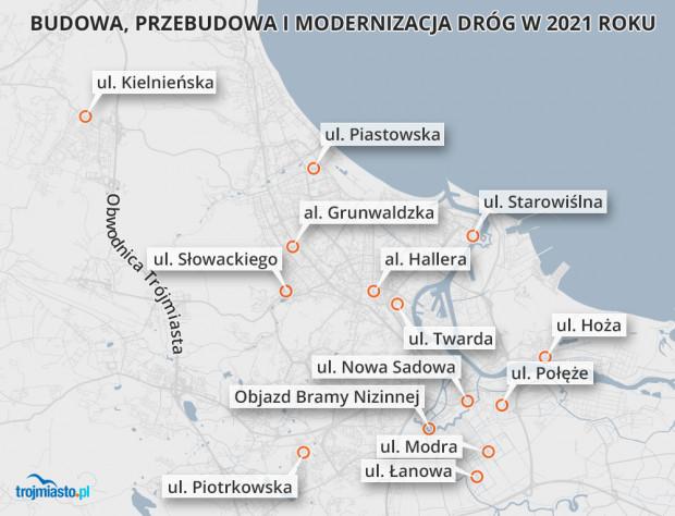 Plany gdańskich drogowców w 2021 r.