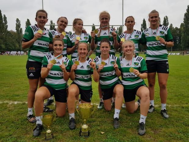 Biało-Zielone Ladies Gdańsk - triumfatorki drugiego turnieju mistrzostw Polski sezonu 2020/21 w rugby siedmioosobowym kobiet.
