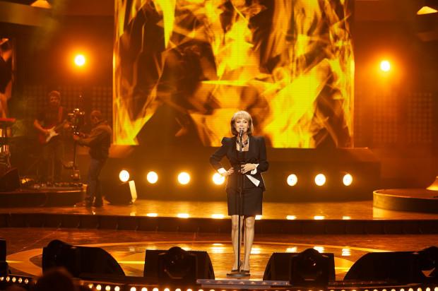 Izabela Trojanowska podczas koncertu w Operze Leśnej w Sopocie w 2013 roku.