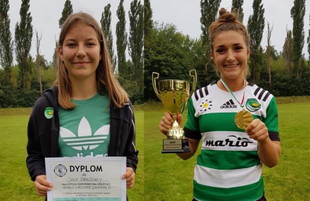 Najlepsze w drużynach Biało-Zielonych Ladies Gdańsk: Natalia Pamięta (z prawej) i Julia Druzgała.