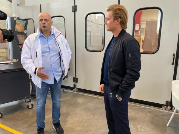 W Gdańsku Nico Rosberg spotkał się z prezesem stoczni Sunreef Yachts, Francisem Lappem.