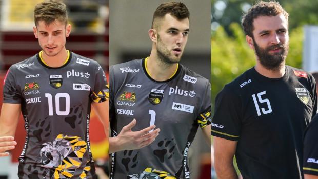 Moritz Reichert (z lewej), Bartłomiej Lipiński (w środku) świetnie radzą sobie na początku sezonu. Do pełnej dyspozycji wraca jednak Mateusz Mika (z prawej), więc rywalizacja na przyjęciu w Treflu Gdańsk zapowiada się ciekawie.