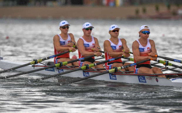 Czwórka podwójna podczas mistrzostw Europy juniorów w Belgradzie.