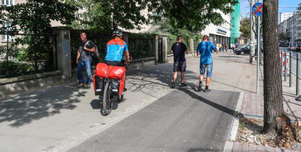 Urzędnicy podkreślają, że najważniejsze jest teraz dla nich dokończenie urwanych dróg rowerowych w Gdyni, jak np. ta przy ul. 10 Lutego.