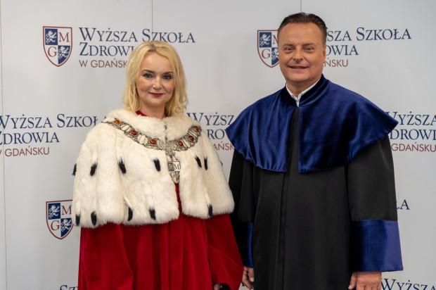 Rektor WSZ dr n. med. Marzena Podgórska i kanclerz dr hab. Marcin Geryk.