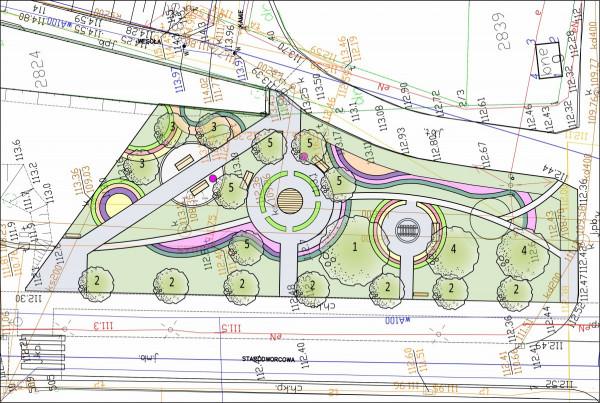 Plan zagospodarowania parku kieszonkowego