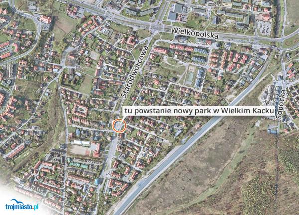 Lokalizacja nowego parku w Wielkim Kacku.